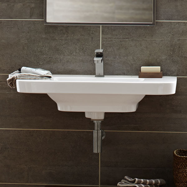 equility 33 inch wall hung trough