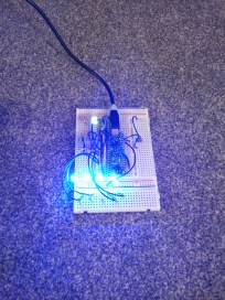 LED breadboard testing (brightest)