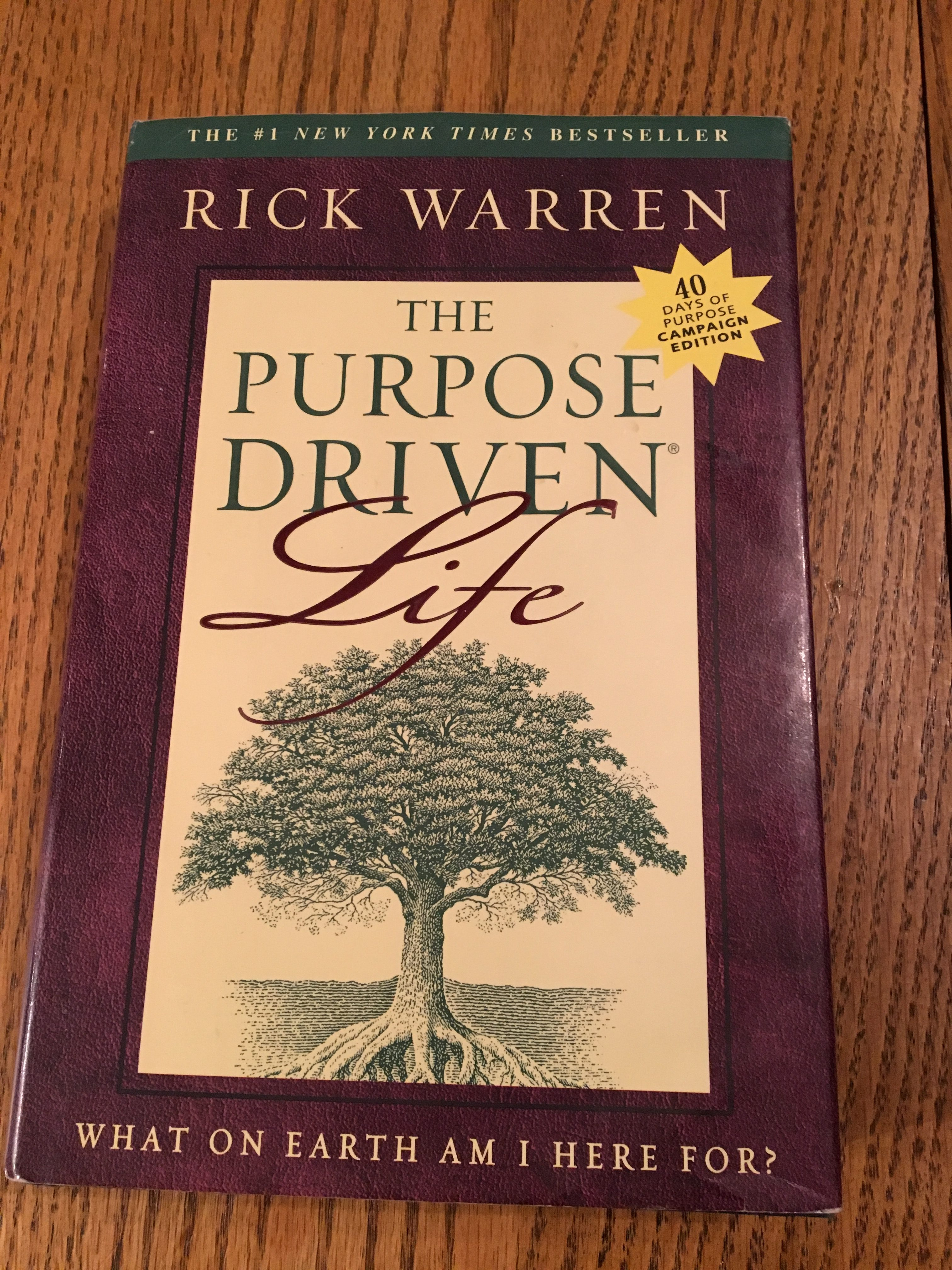 The Purpose Driven Life By Rick Warren Hardback With Dust