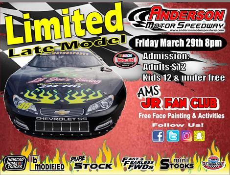 NEXT EVENT: Limited Late Model Showdown Friday March 29th 8pm