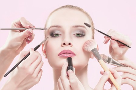 Image result for putting on makeup