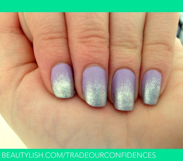 Lilac And Silver Ombre Nails Jade Ks