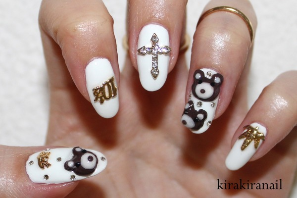Miley Cyrus Inspired Teddy Bear Nails Kirakiranail Ks
