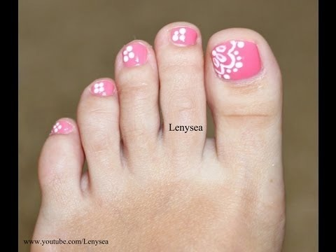 Easy Lace Toe Nail Art Design Lenysea Video Beautylish