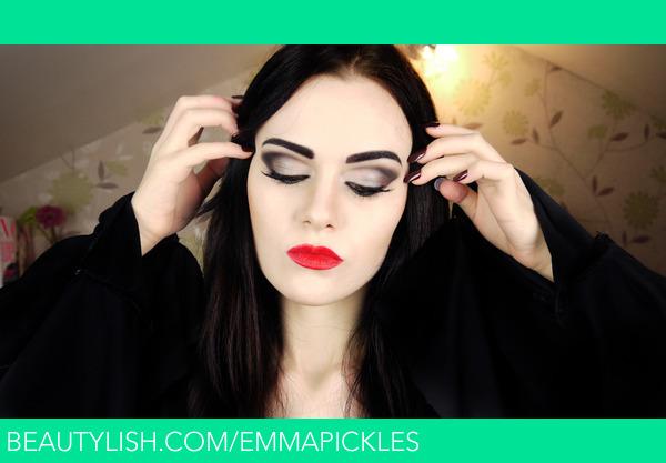 Morticia addams makeup