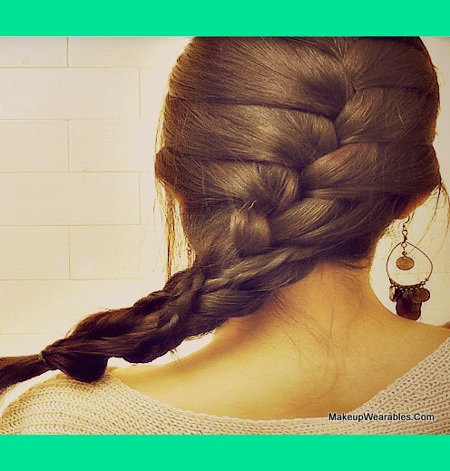 How To French Braid Over Braid On Your Own Hair Tutorial