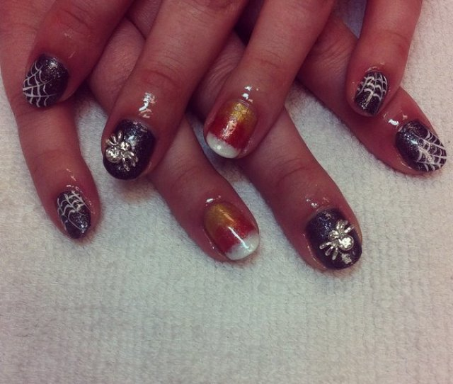 Halloween Shellac Nails