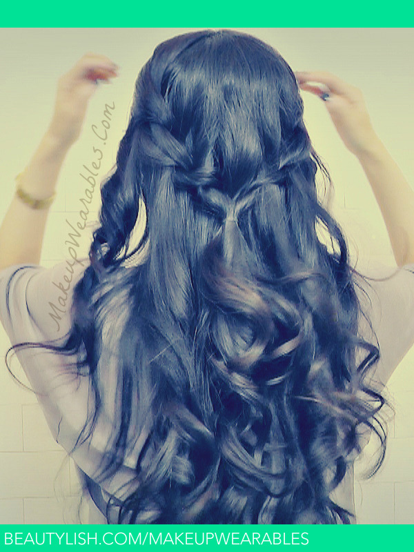 Effortless Chic Waterfall Rope Braid With Curls Tutorial