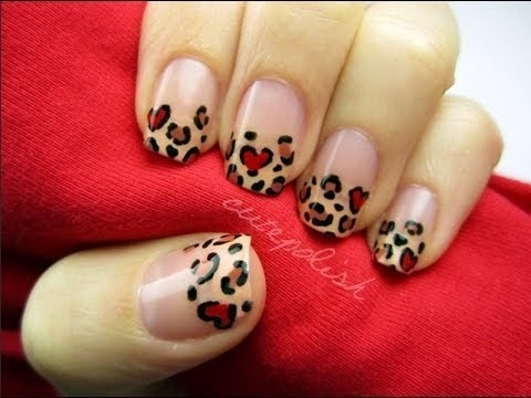 Valentines Day Leopard Nails Cutepolish Video