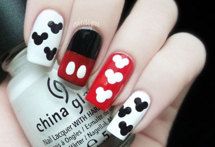 Mickey Mouse Nails Christa Ss Chrissy Photo Beautylish