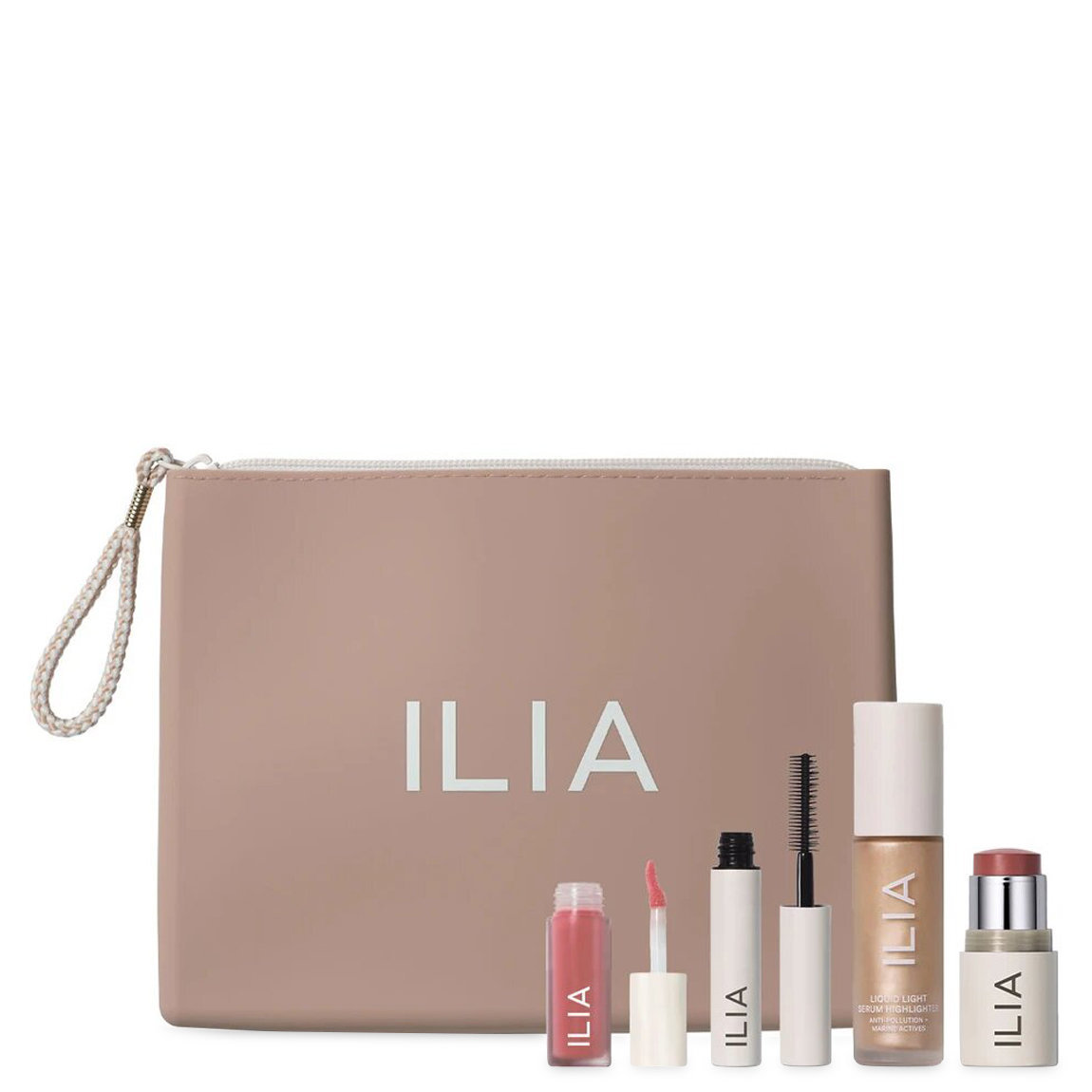 ILIA Hello, Clean Makeup Set product swatch.