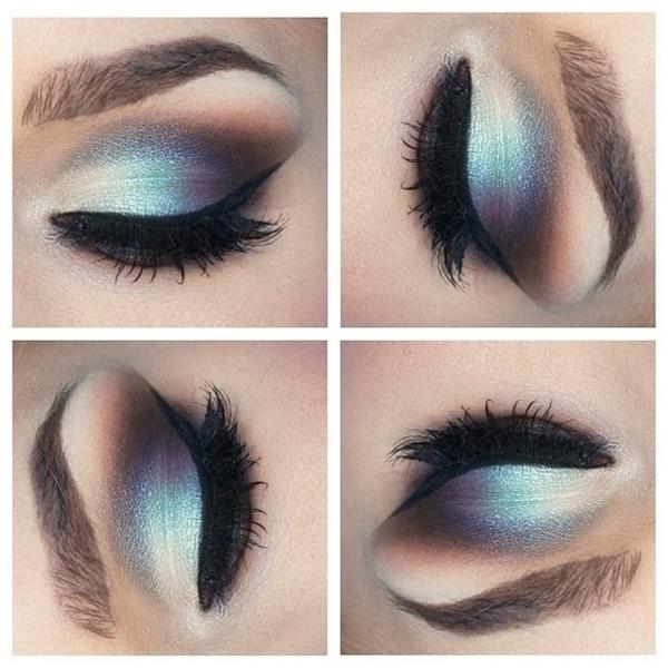 Silver And Blue Eyeshadow Ashley Ss Ash13yxoxo