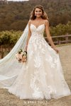 Bridal Dresses Sophia Tolli - Wedding Dress, Casual Boho Beach Wedding Dress With Side Slit Sophia Tolli