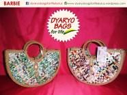 grocery bag, eco bag, fashion bag, newspaper bag, dyaryo bag, colorful bag, recycle bag - Dyaryo Bags for Life by Luzviminda Madriñan
