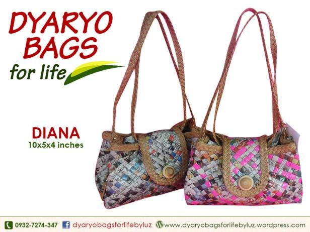 shoulder bag, newspaper bag, dyaryo bag, grocery bag, fashion bag, recycle bag - Dyaryo Bags for Life by Luzviminda Madriñan