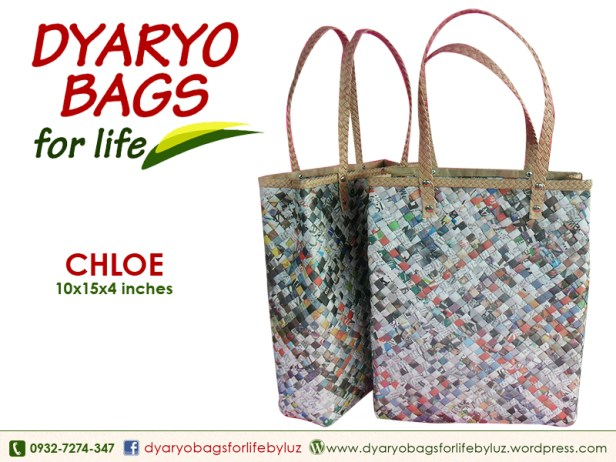 shoppers bag, newspaper bag, dyaryo bag, grocery bag, fashion bag, recycle bag - Dyaryo Bags for Life by Luzviminda Madriñan