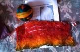 Rainbow Shetland stole