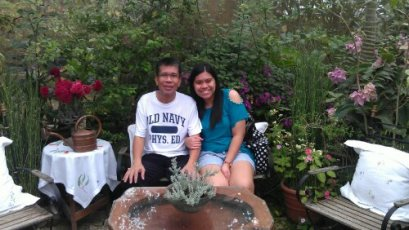 Me and my dad at Sonya's Garden
