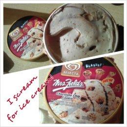 Eating ice cream for breakfast