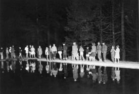 poolside-procession