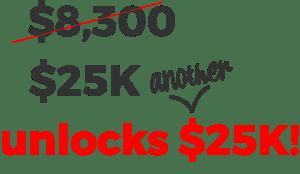 new goal of $25K
