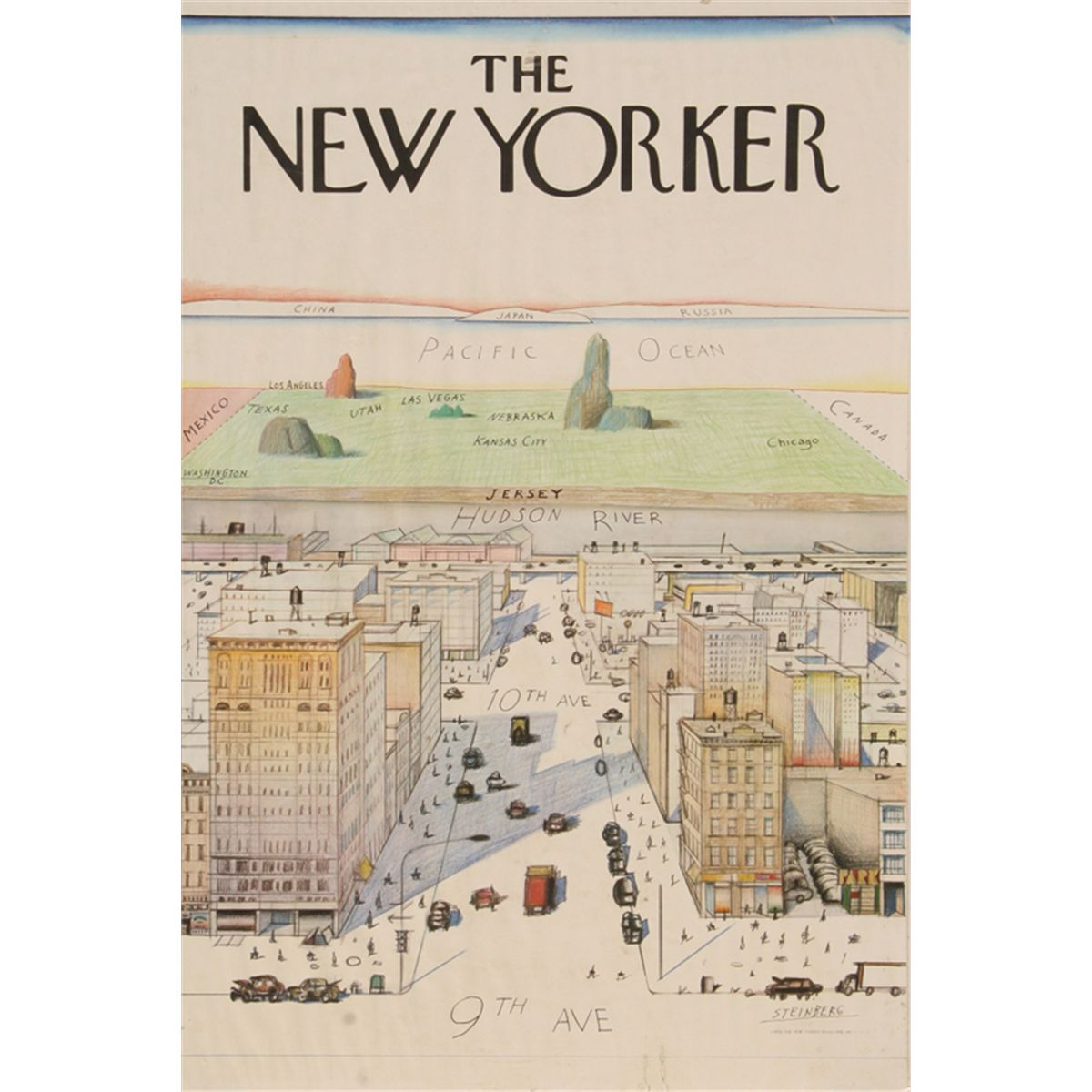 saul steinberg the new yorker poster