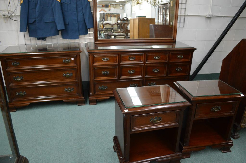 four piece gibbard solid cherry bedroom