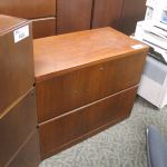 Haworth Cherry 2 Drawer Lateral File Cabinet