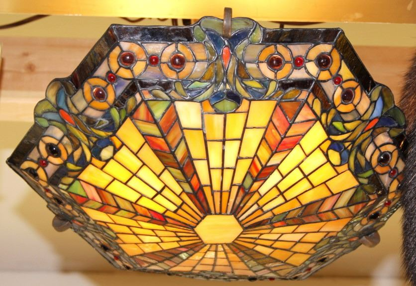 kichler mission style stained glass