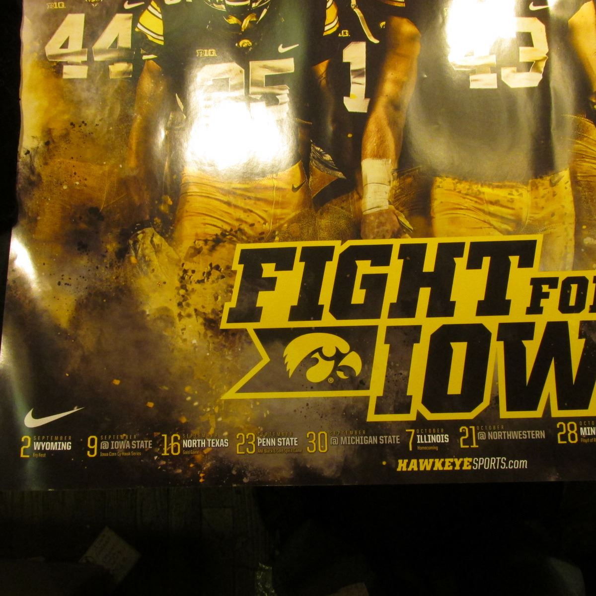 fight for iowa hawkeyes football poster typewritten rose bowl trip revised itinerary state unive