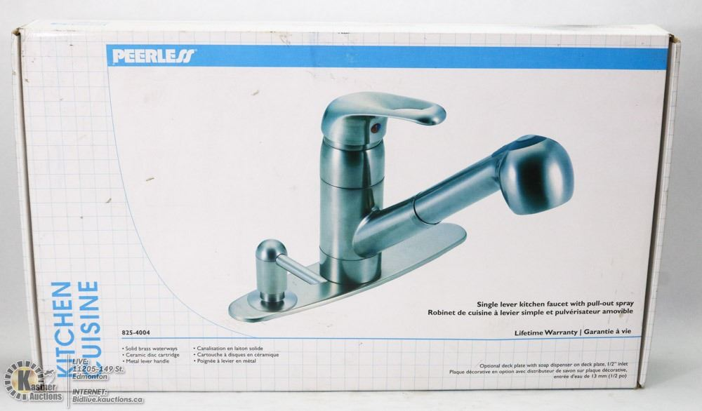 peerless kitchen faucet with pull out spray