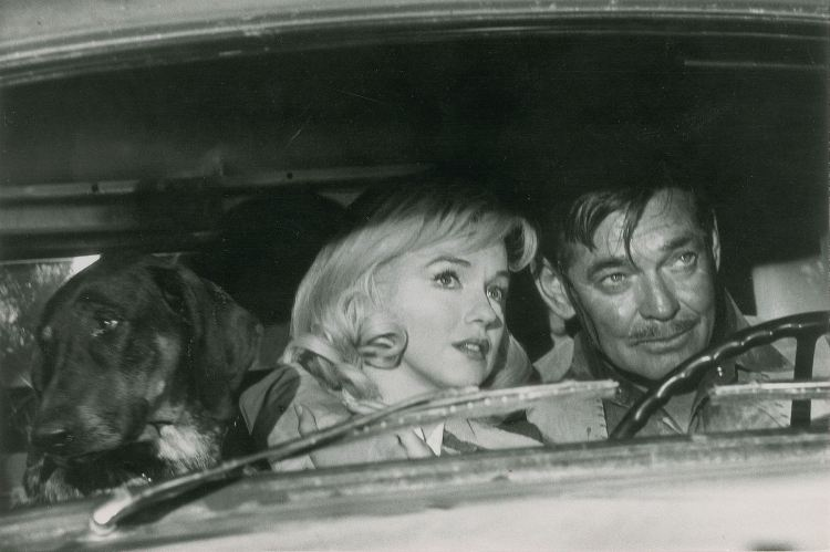 Marilyn Monroe and Clark Gable by Eve Arnold