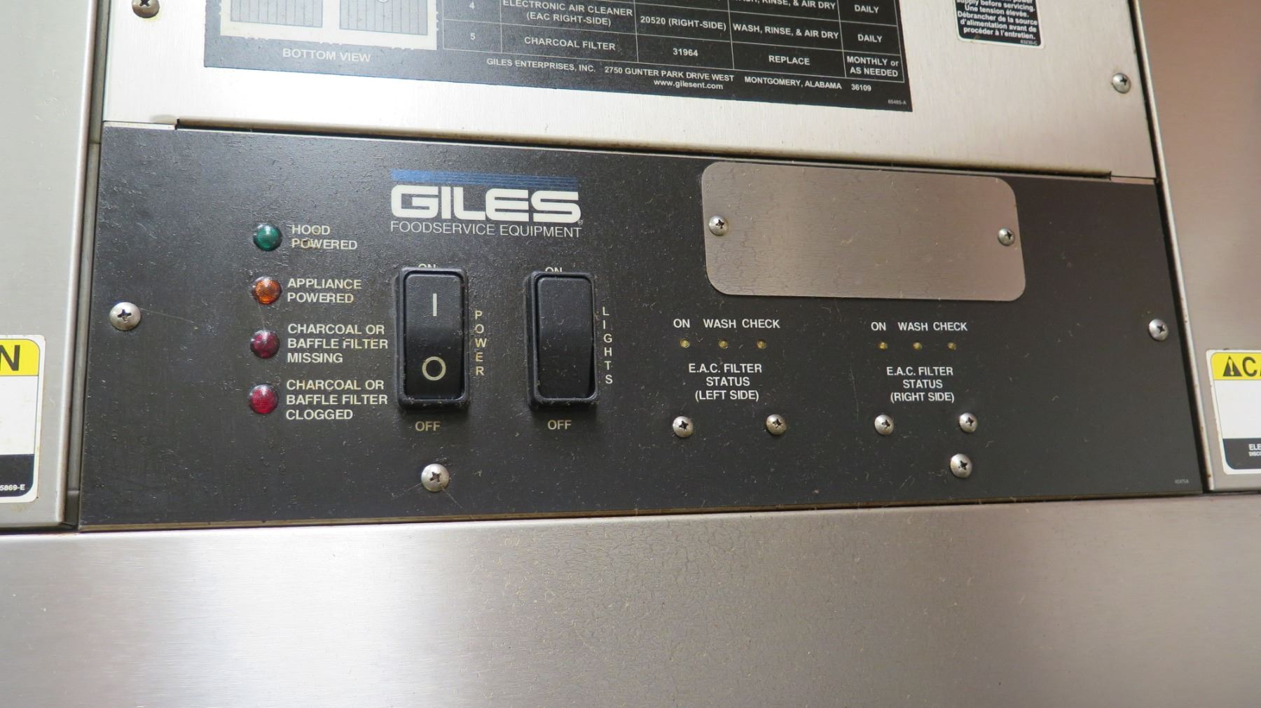 giles foodservice air filtration