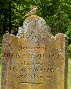 The final resting place of Joachim Quick, Revolutionary War soldier and John Quick's great grandfather.