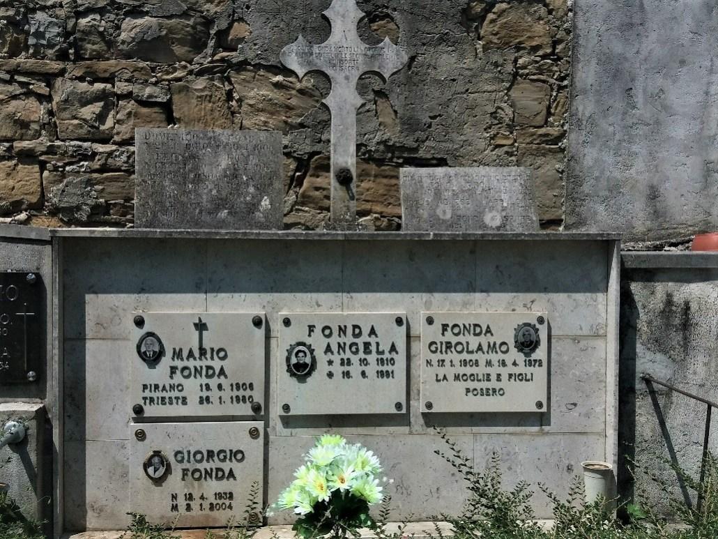 Pokopališče Piran Cemetery Fonda family grave