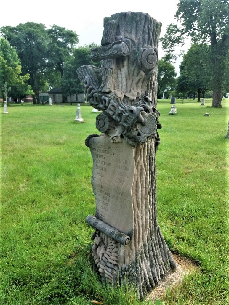 Minneapolis Pioneers and Soldier Memorial Cemetery woodsmen marker