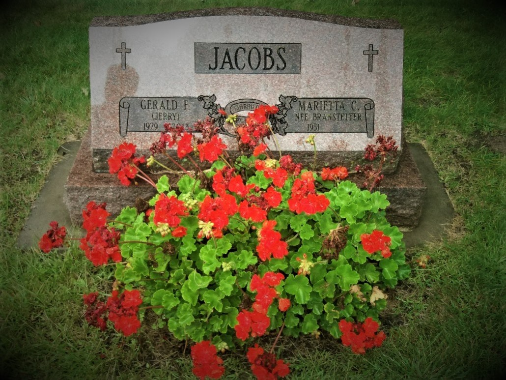 Jacobs gravestone South Green Lake Cemetery Chisago MN