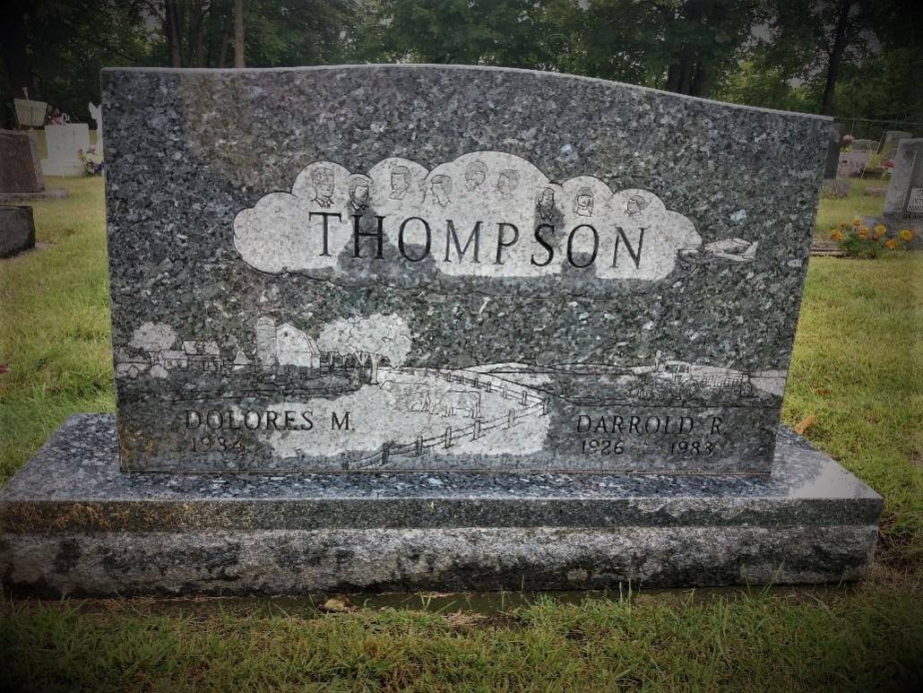 Thompson gravestone South Green Lake Cemetery Chisago MN