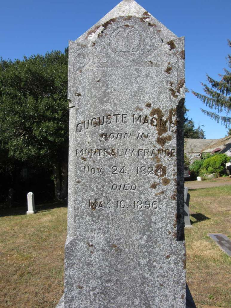 French grave at Greenwood Cemetery, Astoria, OR