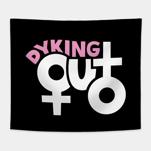 Dyking Out Wall Tapestry