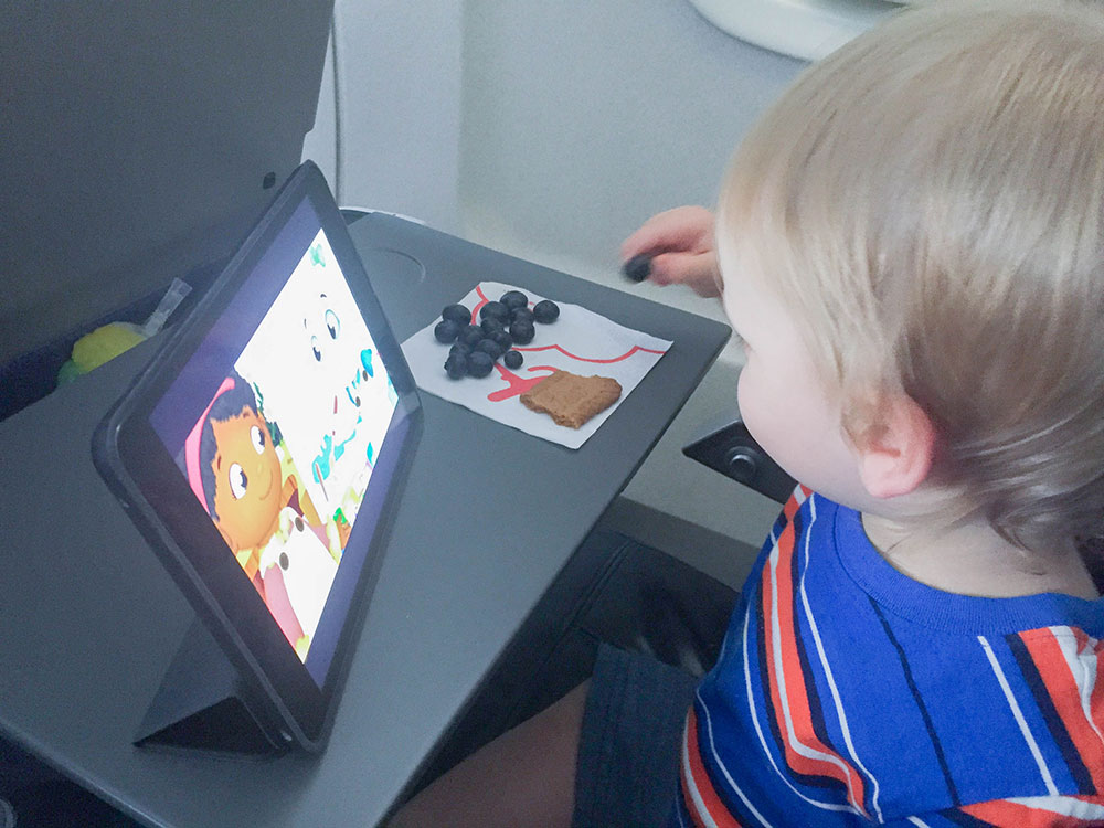 Toddler on flight