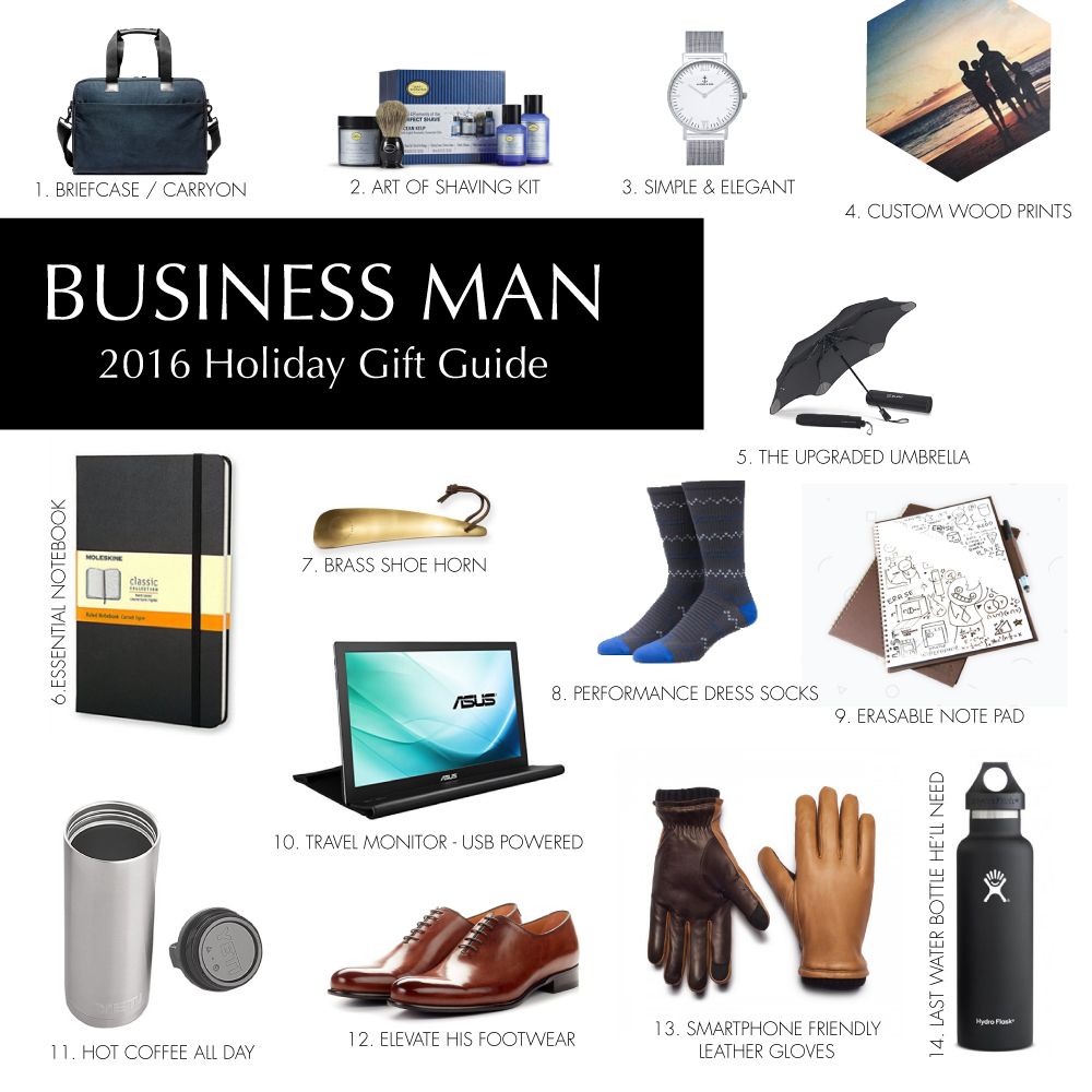 Holiday Gift Guide 2016: Business Man