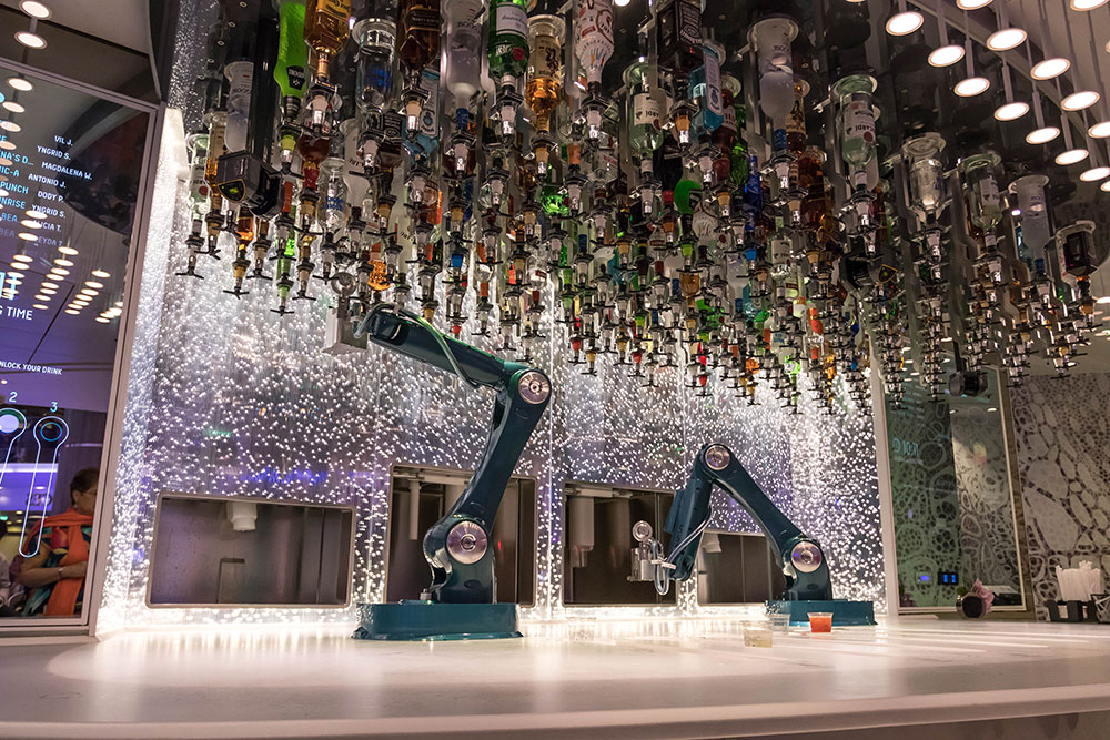 Automated robot bartenders