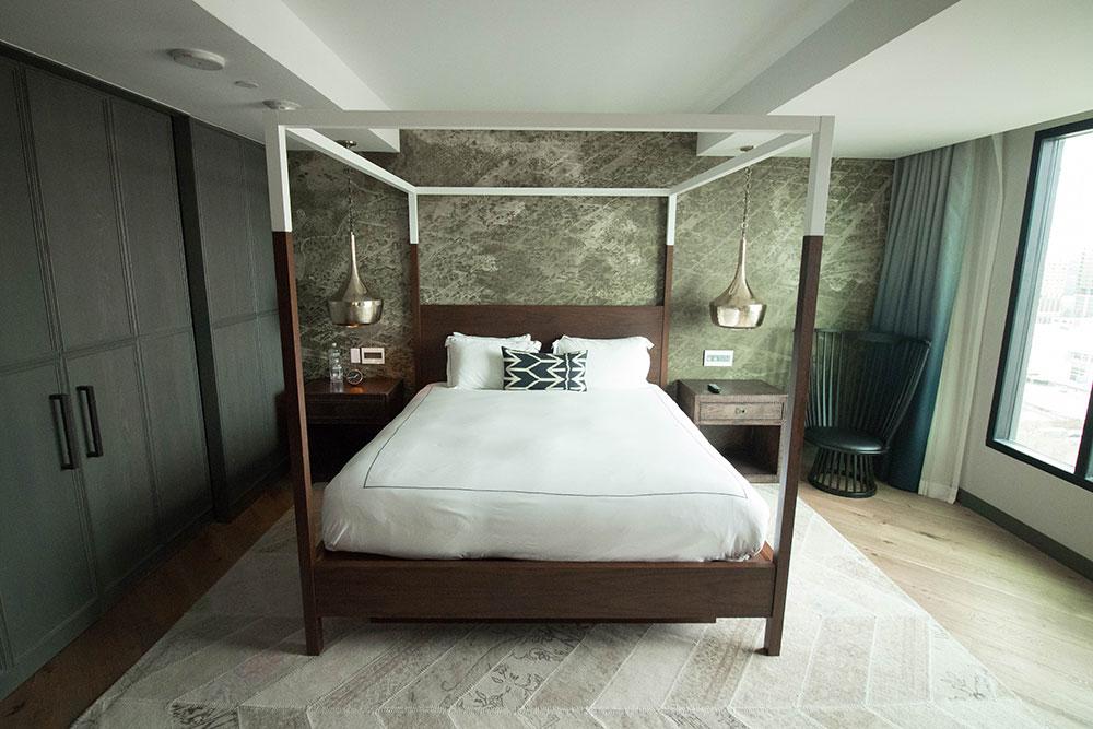 Loretta's Suite - Bedroom - Hotel Van Zandt - Austin Texas - Kimpton