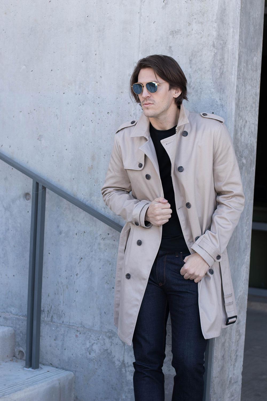 Tan Men's Winter Overcoat 2017 -2
