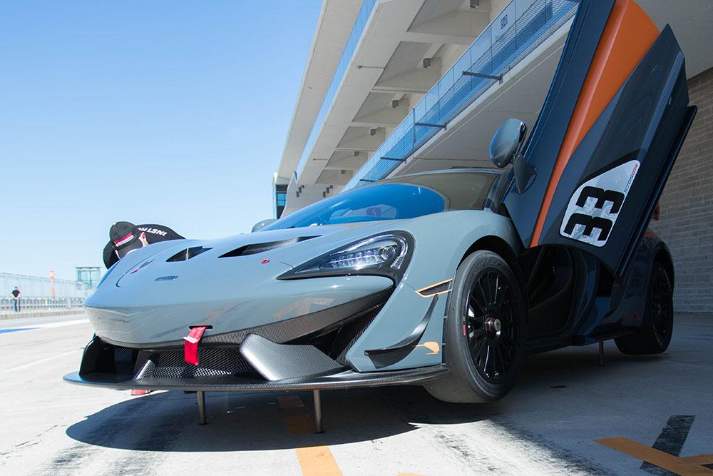 Mclaren 570S GT4 on COTA F1 Track 2