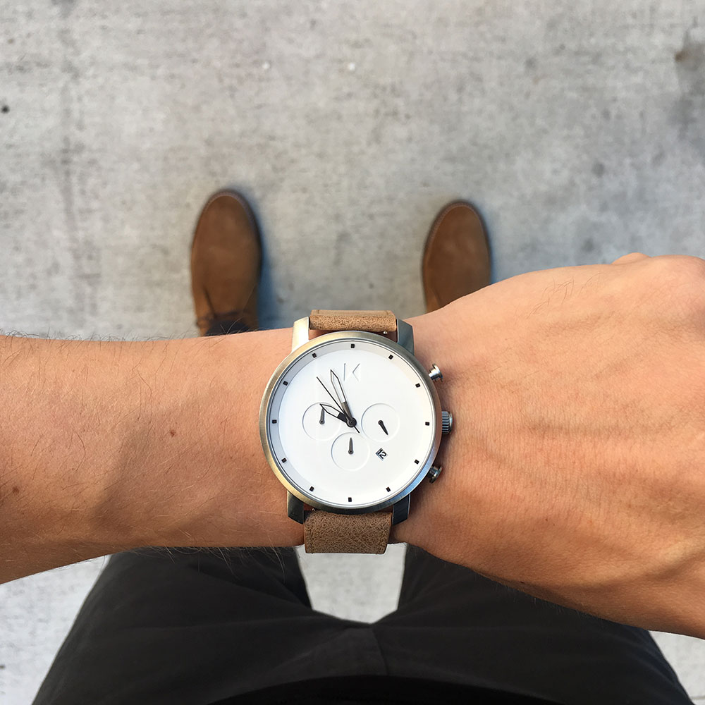 MVMT Watch White Chronograph