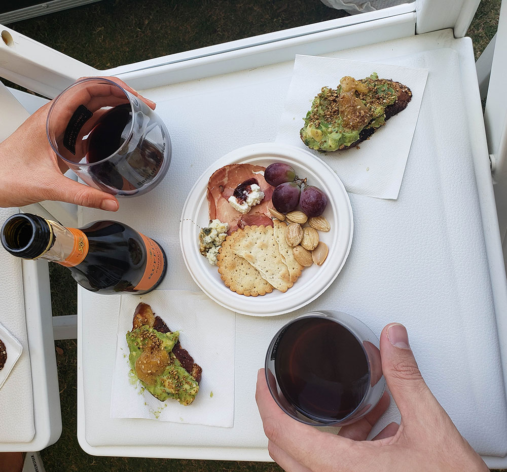 Snacking at Austin Food and Wine Festival