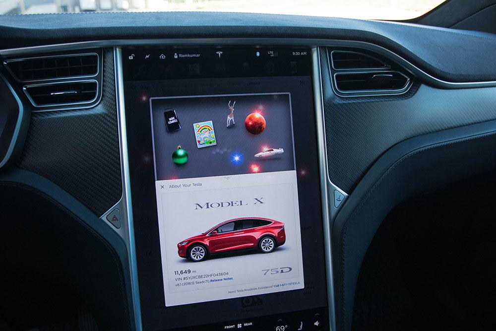 Tesla Model X Easter Eggs