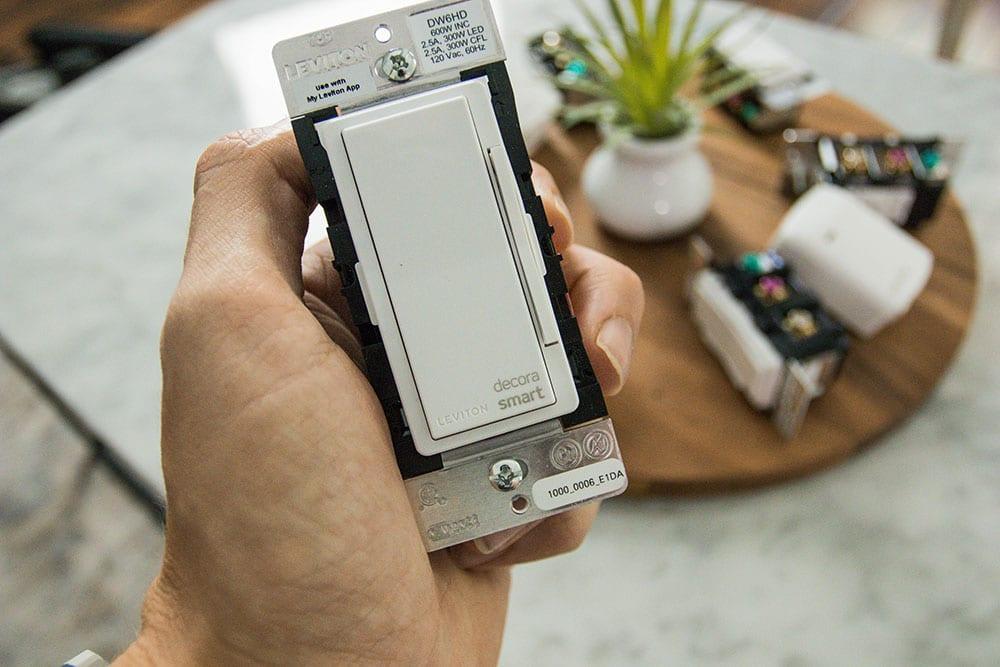 Leviton Decora Dimmers WiFi Close Up